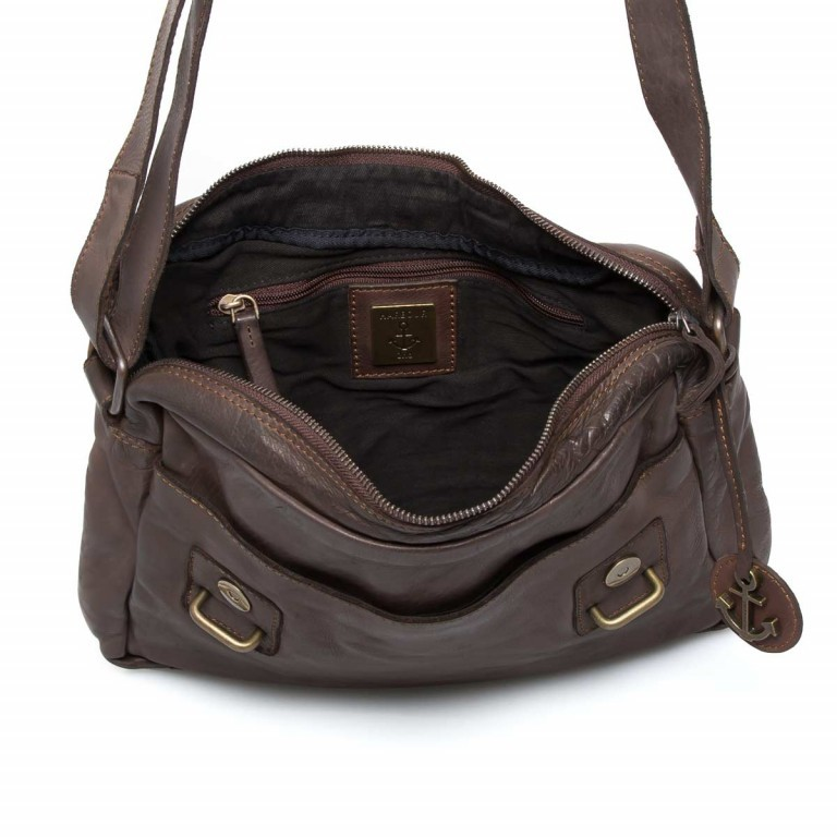 Umhängetasche Cool-Casual Funchal B3.5172 Chocolate Brown, Farbe: braun, Marke: Harbour 2nd, EAN: 4046478022072, Abmessungen in cm: 29.0x25.0x7.0, Bild 4 von 5