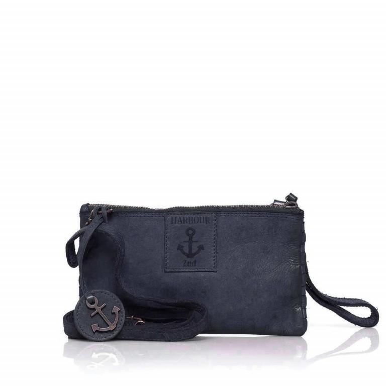 Umhängetasche / Clutch Soft-Weaving Lillen B3.4795 Midnight Navy, Farbe: blau/petrol, Marke: Harbour 2nd, EAN: 4046478019157, Abmessungen in cm: 23.0x13.0x2.0, Bild 2 von 7