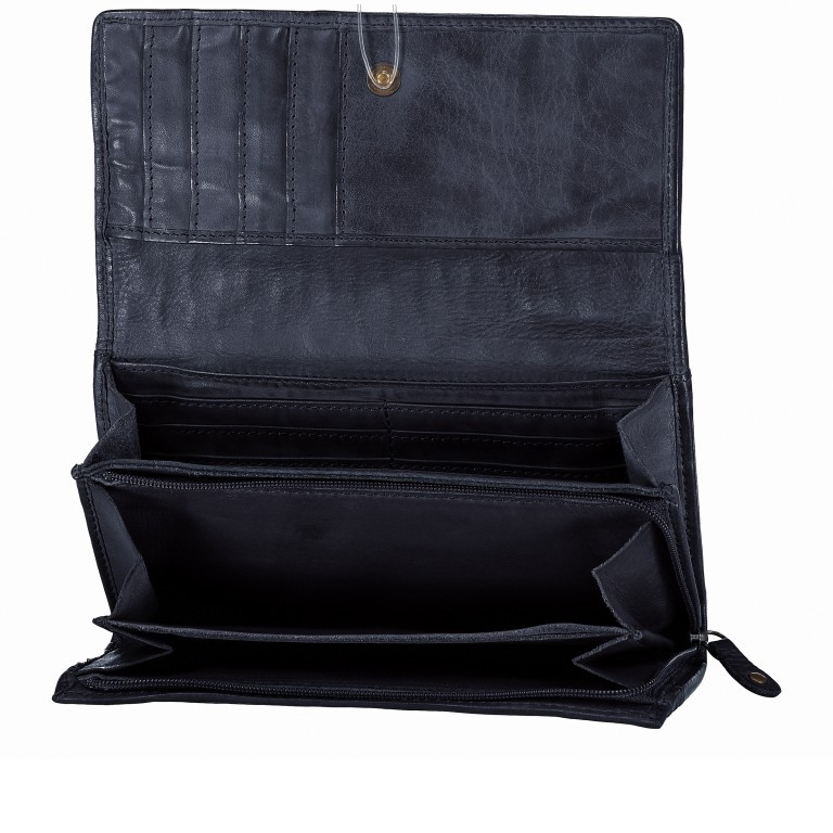 Geldbörse Soft-Weaving Adriane B3.9857 Midnight Navy, Farbe: blau/petrol, Marke: Harbour 2nd, EAN: 4046478019201, Abmessungen in cm: 18.0x10.0x3.5, Bild 4 von 4