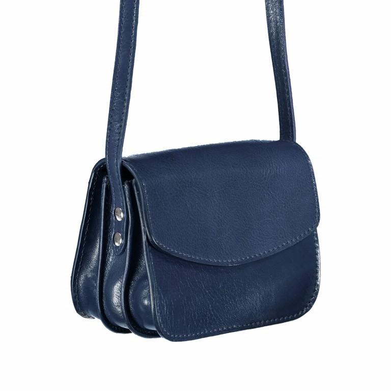 Umhängetasche Toscana Blau, Farbe: blau/petrol, Marke: Hausfelder, EAN: 4065646000018, Abmessungen in cm: 19.0x14.0x10.0, Bild 2 von 6