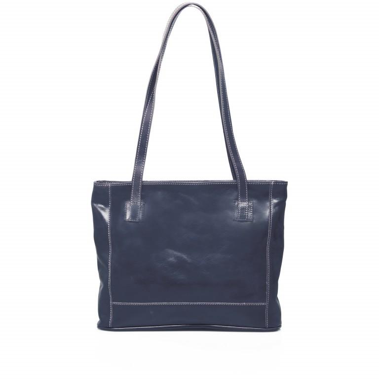 Shopper Toscana Blau, Farbe: blau/petrol, Marke: Hausfelder, EAN: 4065646000247, Abmessungen in cm: 38.0x31.0x7.0, Bild 3 von 6