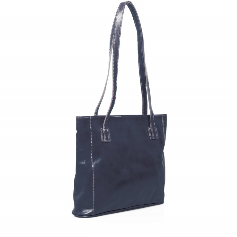 Shopper Toscana Blau, Farbe: blau/petrol, Marke: Hausfelder, EAN: 4065646000247, Abmessungen in cm: 38.0x31.0x7.0, Bild 2 von 6