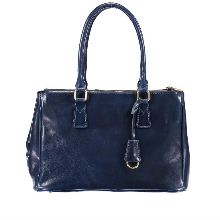 Shopper Toscana Blau, Farbe: blau/petrol, Marke: Hausfelder, EAN: 4065646000520, Abmessungen in cm: 37.0x25.0x16.0, Bild 1 von 4