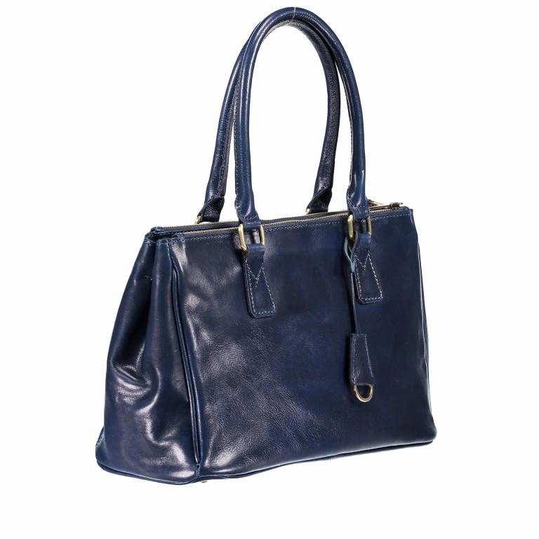 Shopper Toscana Blau, Farbe: blau/petrol, Marke: Hausfelder, EAN: 4065646000520, Abmessungen in cm: 37.0x25.0x16.0, Bild 2 von 4