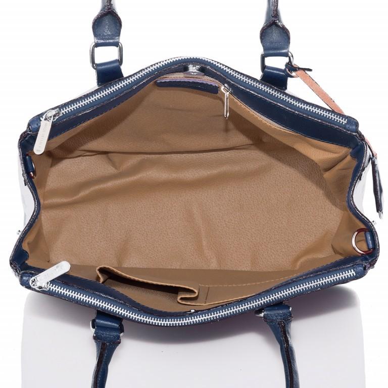Shopper Toscana Blau, Farbe: blau/petrol, Marke: Hausfelder, EAN: 4065646000520, Abmessungen in cm: 37.0x25.0x16.0, Bild 3 von 4