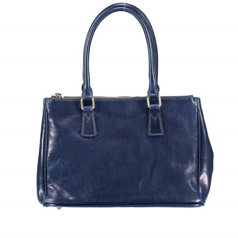Shopper Toscana Blau, Farbe: blau/petrol, Marke: Hausfelder, EAN: 4065646000520, Abmessungen in cm: 37.0x25.0x16.0, Bild 4 von 4