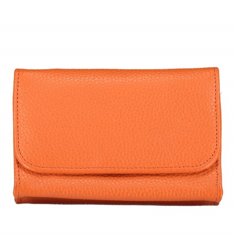 Kosmetiketui Nappa, Farbe: grau, blau/petrol, orange, Marke: Hausfelder, Abmessungen in cm: 15.5x10.0x3.5, Bild 1 von 1