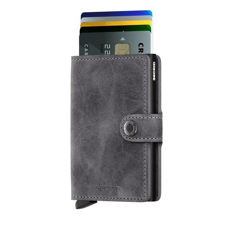 Geldbörse Miniwallet Vintage Grey Black, Farbe: grau, Marke: Secrid, EAN: 8718215285939, Abmessungen in cm: 6.8x10.2x2.1, Bild 3 von 3
