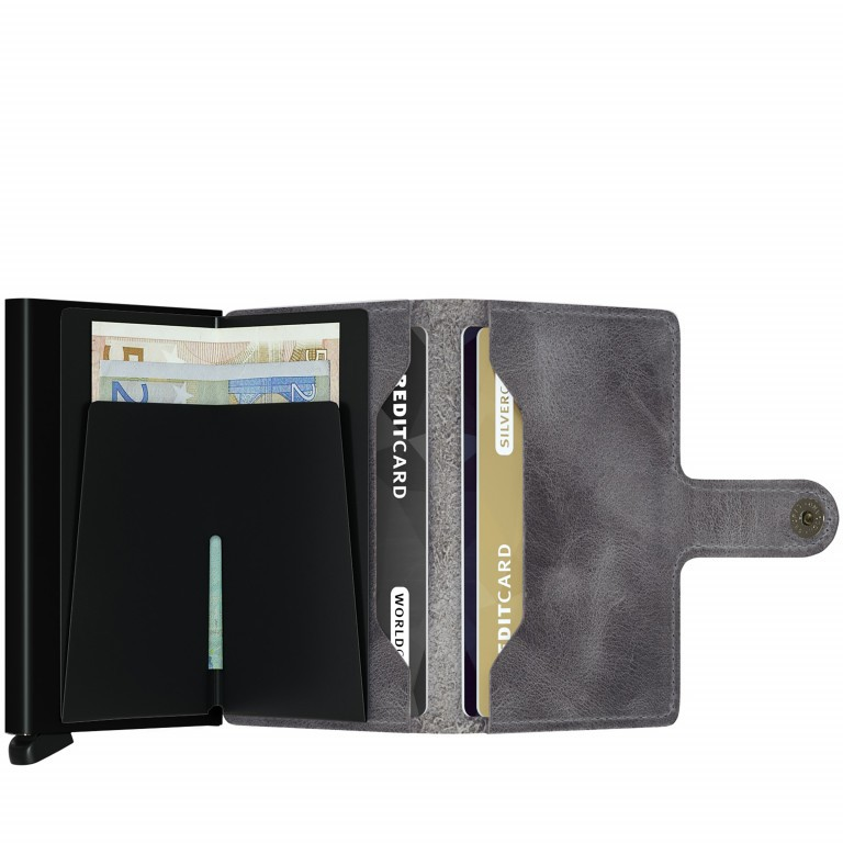 Geldbörse Miniwallet Vintage Grey Black, Farbe: grau, Marke: Secrid, EAN: 8718215285939, Abmessungen in cm: 6.8x10.2x2.1, Bild 2 von 3