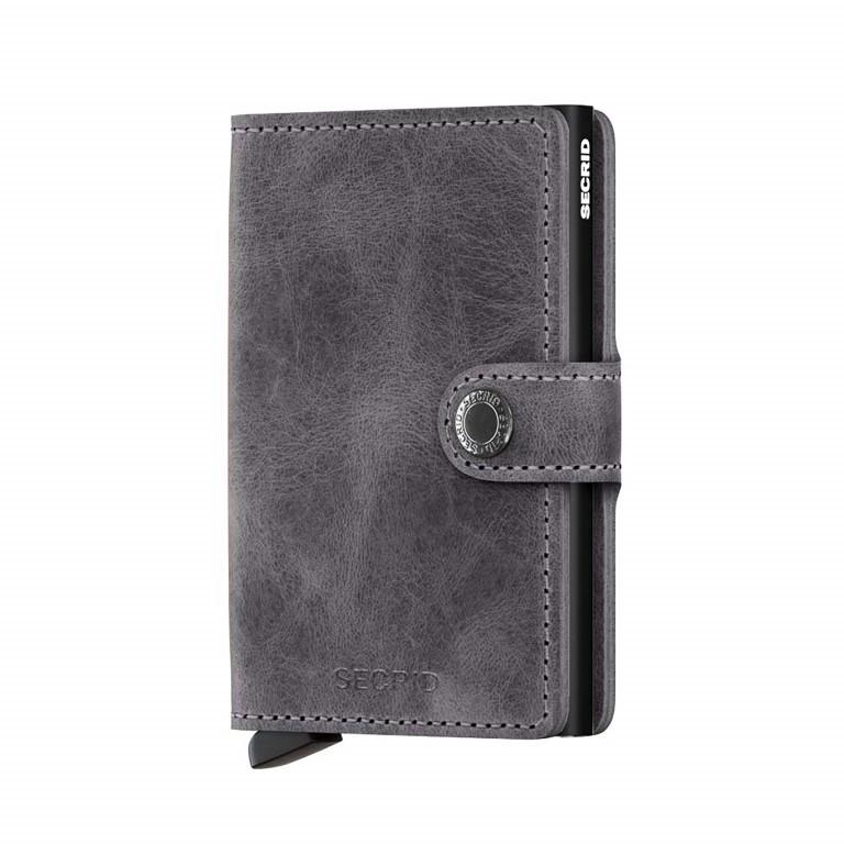 Geldbörse Miniwallet Vintage Grey Black, Farbe: grau, Marke: Secrid, EAN: 8718215285939, Abmessungen in cm: 6.8x10.2x2.1, Bild 1 von 3
