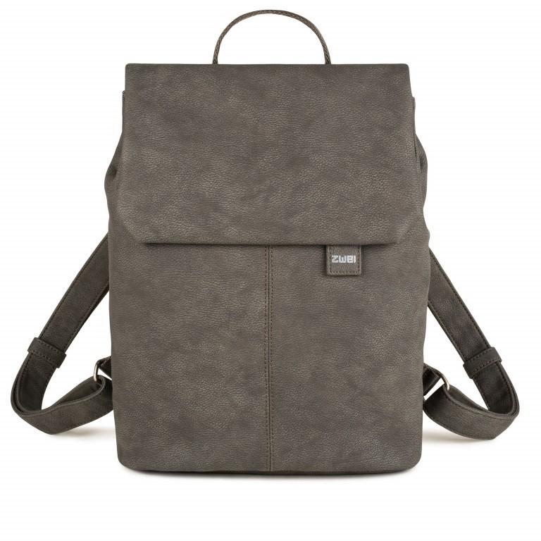 Rucksack Mademoiselle MR13 Nubuk Stone, Farbe: grau, Marke: Zwei, EAN: 4250257914810, Abmessungen in cm: 34.5x37.0x12.0, Bild 1 von 6