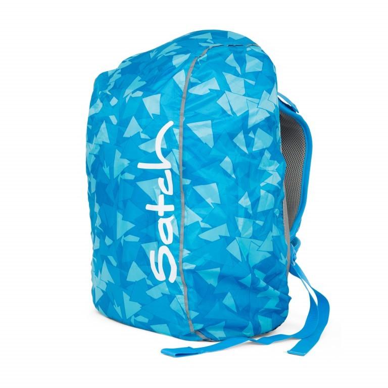 Regenhülle Raincape Blue, Farbe: blau/petrol, Marke: Satch, EAN: 4057081013050, Abmessungen in cm: 22.0x5.0x14.0, Bild 2 von 3