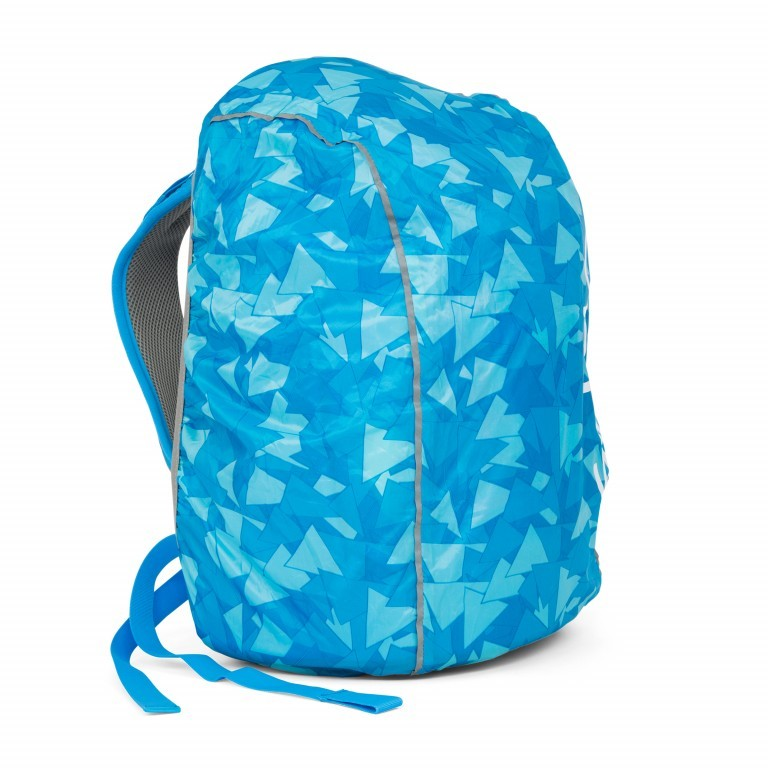 Regenhülle Raincape Blue, Farbe: blau/petrol, Marke: Satch, EAN: 4057081013050, Abmessungen in cm: 22.0x5.0x14.0, Bild 3 von 3