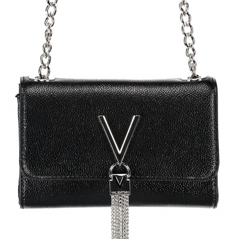 Umhängetasche Divina Nero, Farbe: schwarz, Marke: Valentino Bags, EAN: 8052790167328, Abmessungen in cm: 17.5x11.5x6.0, Bild 1 von 6