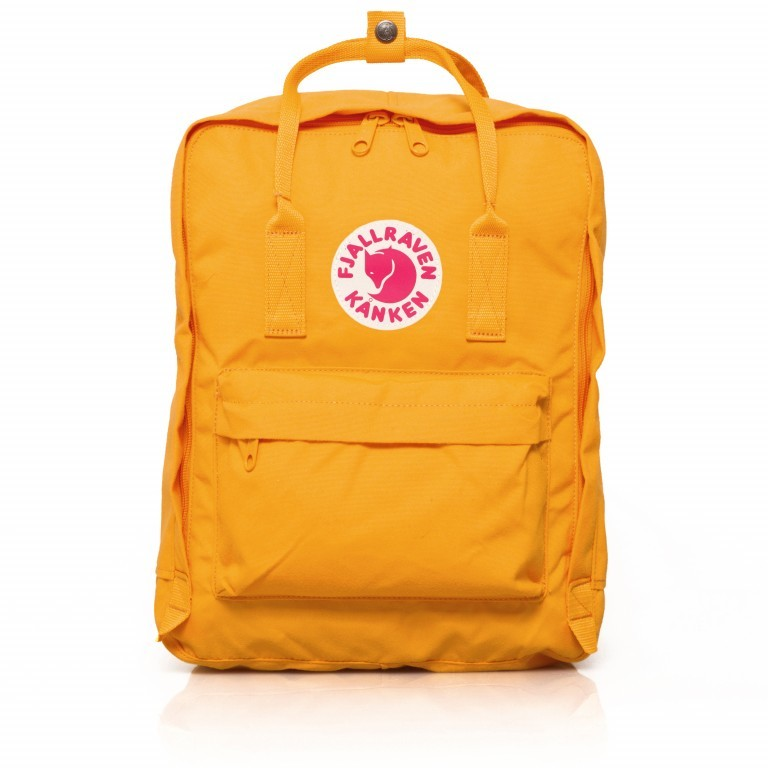 Rucksack Kånken Warm Yellow, Farbe: gelb, Marke: Fjällräven, EAN: 7392158498499, Abmessungen in cm: 27.0x38.0x13.0, Bild 1 von 15