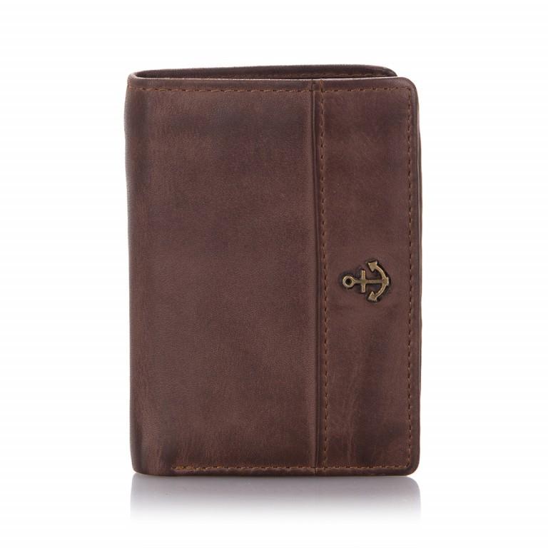 Geldbörse Anchor-Love Pauline B3.0879 Chocolate Brown, Farbe: braun, Marke: Harbour 2nd, EAN: 4046478026681, Abmessungen in cm: 8.5x12.0x1.0, Bild 1 von 4