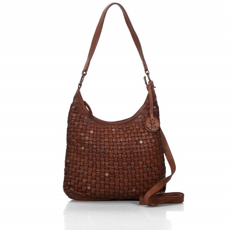 Beuteltasche Soft-Weaving Tuula B3.6104 Charming Cognac, Farbe: cognac, Marke: Harbour 2nd, EAN: 4046478026971, Abmessungen in cm: 30.0x33.0x9.0, Bild 1 von 4