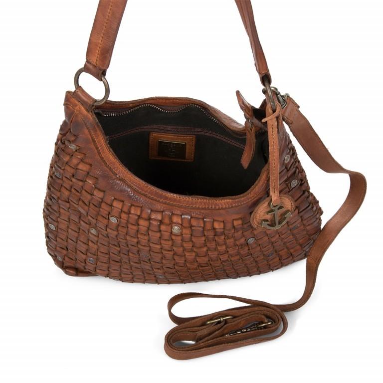 Beuteltasche Soft-Weaving Tuula B3.6104 Charming Cognac, Farbe: cognac, Marke: Harbour 2nd, EAN: 4046478026971, Abmessungen in cm: 30.0x33.0x9.0, Bild 3 von 4