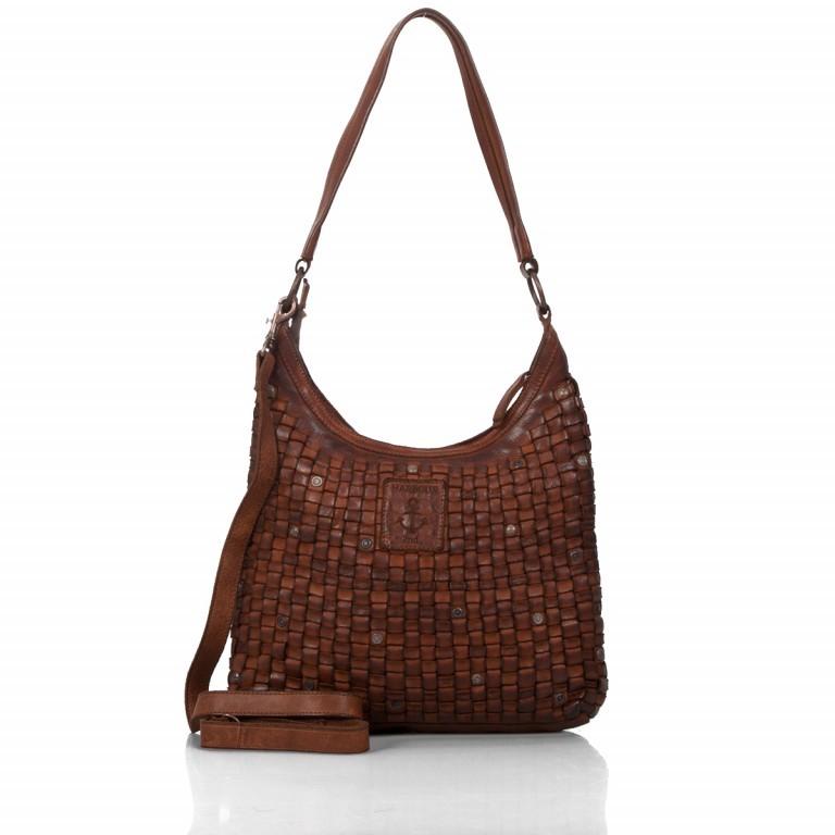 Beuteltasche Soft-Weaving Tuula B3.6104 Charming Cognac, Farbe: cognac, Marke: Harbour 2nd, EAN: 4046478026971, Abmessungen in cm: 30.0x33.0x9.0, Bild 4 von 4