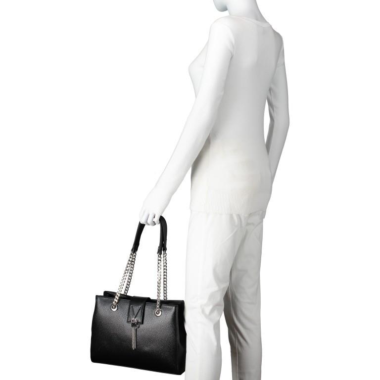 Tasche Divina Nero, Farbe: schwarz, Marke: Valentino Bags, EAN: 8052790167557, Abmessungen in cm: 30.0x23.0x10.0, Bild 4 von 6