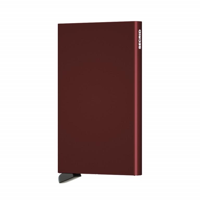 Kartenetui Cardprotector Bordeaux, Farbe: rot/weinrot, Marke: Secrid, EAN: 8718215285472, Abmessungen in cm: 6.3x10.2x0.8, Bild 2 von 3