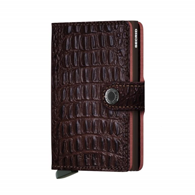 Geldbörse Miniwallet Nile, Farbe: schwarz, braun, rot/weinrot, Marke: Secrid, Abmessungen in cm: 6.8x10.2x2.1, Bild 1 von 1