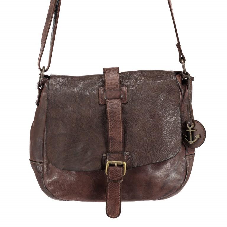 Umhängetasche Cool-Casual Saddle Nauja B3.4903 Chocolate Brown, Farbe: braun, Marke: Harbour 2nd, EAN: 4046478020399, Abmessungen in cm: 29.0x28.0x11.0, Bild 1 von 6