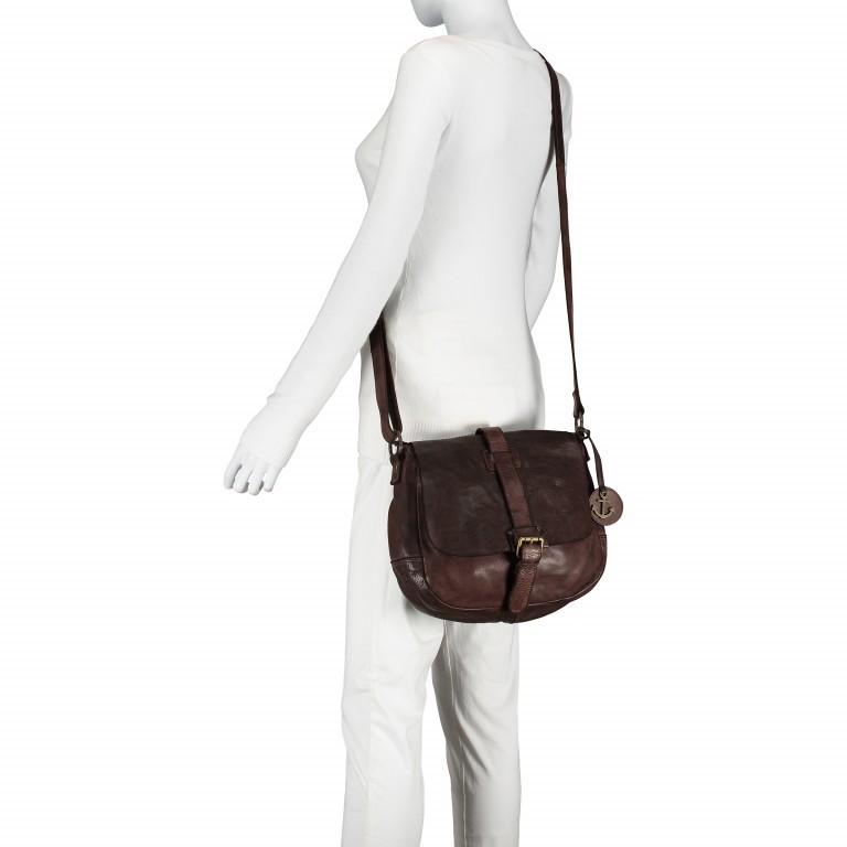 Umhängetasche Cool-Casual Saddle Nauja B3.4903 Chocolate Brown, Farbe: braun, Marke: Harbour 2nd, EAN: 4046478020399, Abmessungen in cm: 29.0x28.0x11.0, Bild 3 von 6