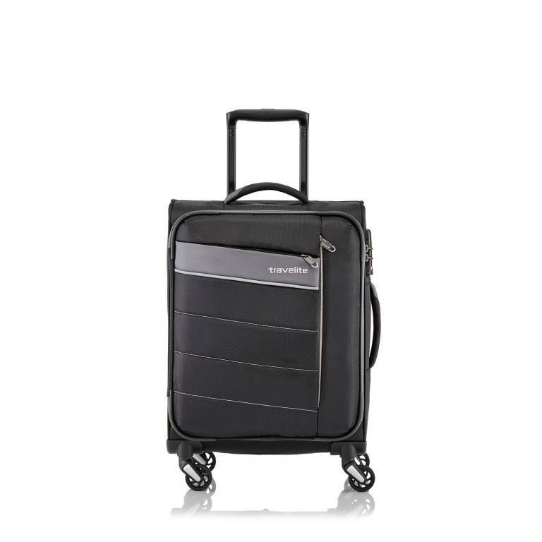 Koffer Kite 54 cm Schwarz, Farbe: schwarz, Marke: Travelite, EAN: 4027002059658, Abmessungen in cm: 37.0x54.0x20.0, Bild 1 von 2