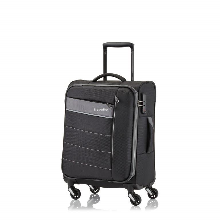 Koffer Kite 54 cm Schwarz, Farbe: schwarz, Marke: Travelite, EAN: 4027002059658, Abmessungen in cm: 37.0x54.0x20.0, Bild 2 von 2