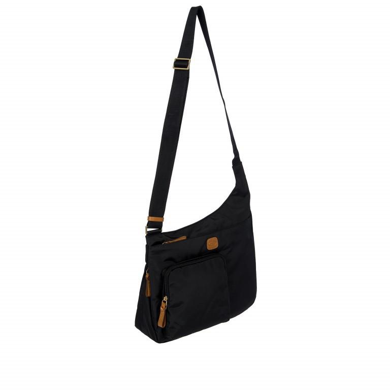 Umhängetasche X-Bag & X-Travel Black, Farbe: schwarz, Marke: Brics, EAN: 8016623886893, Abmessungen in cm: 32.0x28.0x8.0, Bild 2 von 7
