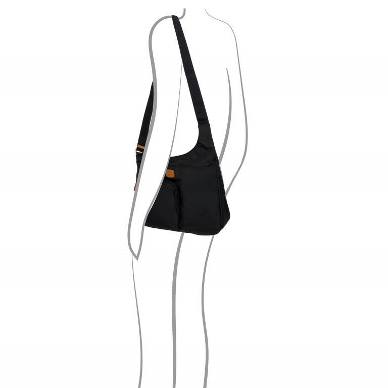 Umhängetasche X-Bag & X-Travel Black, Farbe: schwarz, Marke: Brics, EAN: 8016623886893, Abmessungen in cm: 32.0x28.0x8.0, Bild 4 von 7