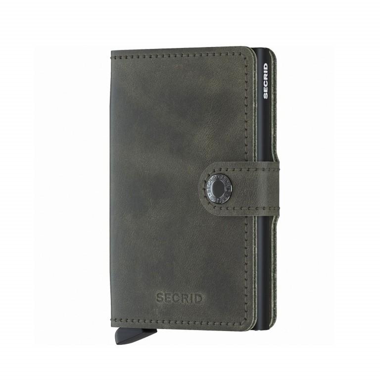 Geldbörse Miniwallet Vintage Olive Black, Farbe: grün/oliv, Marke: Secrid, EAN: 8718215285946, Abmessungen in cm: 6.8x10.2x1.6, Bild 1 von 3