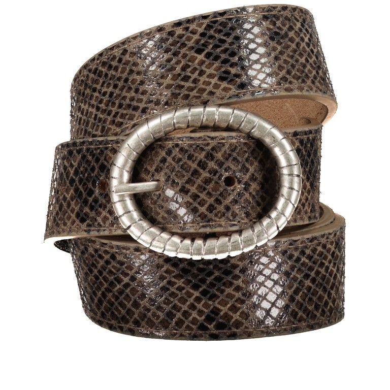 Gürtel Snake One Size, Farbe: schwarz, grau, taupe/khaki, Marke: Hausfelder, Bild 1 von 4