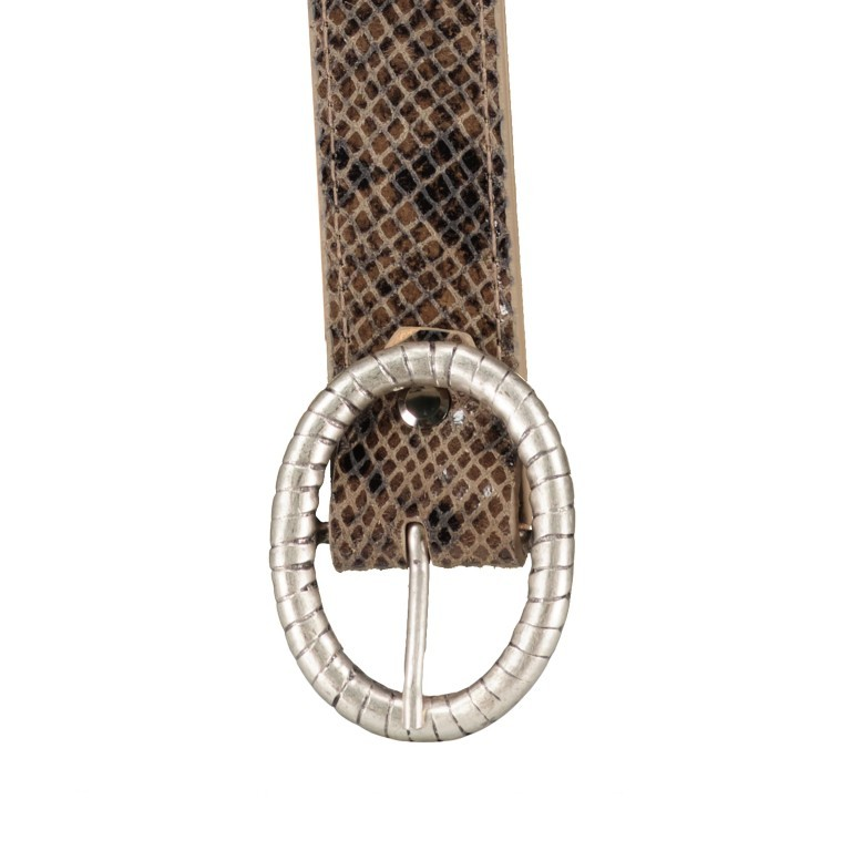 Gürtel Snake One Size, Farbe: schwarz, grau, taupe/khaki, Marke: Hausfelder, Bild 2 von 4