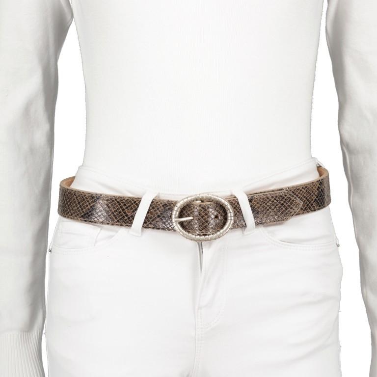 Gürtel Snake One Size, Farbe: schwarz, grau, taupe/khaki, Marke: Hausfelder, Bild 4 von 4
