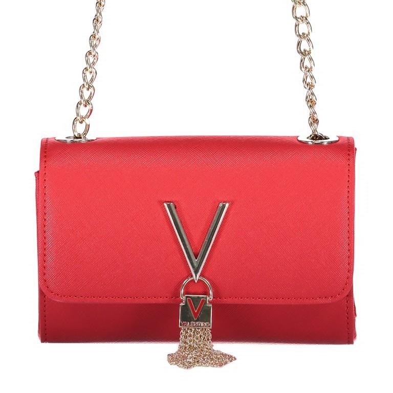 Umhängetasche Divina Rosso, Farbe: rot/weinrot, Marke: Valentino Bags, EAN: 8052790432310, Abmessungen in cm: 17.0x11.5x5.0, Bild 1 von 6