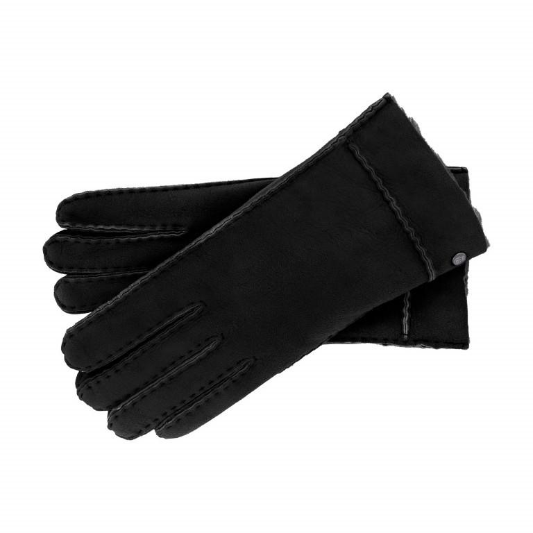Handschuhe Damen Lammfell, Farbe: schwarz, grau, braun, cognac, rot/weinrot, Marke: Roeckl, Bild 1 von 1