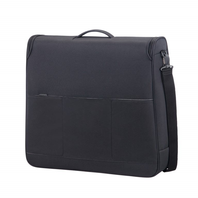Kleidersack Spark Garment Bag Bi-Fold Black Black, Farbe: schwarz, Marke: Samsonite, EAN: 5414847759246, Abmessungen in cm: 61.0x56.0x17.0, Bild 3 von 7