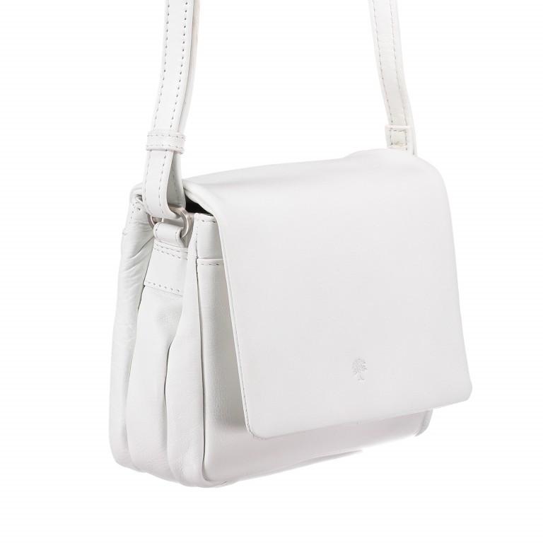 Umhängetasche Cambridge Valentino Weiß, Farbe: weiß, Marke: Hausfelder, EAN: 4251672709661, Abmessungen in cm: 19.0x14.0x6.0, Bild 2 von 6