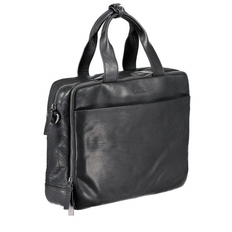 Aktentasche Coleman Briefbag MHZ Black, Farbe: schwarz, Marke: Strellson, EAN: 4053533651719, Abmessungen in cm: 38.5x30.0x12.0, Bild 2 von 7
