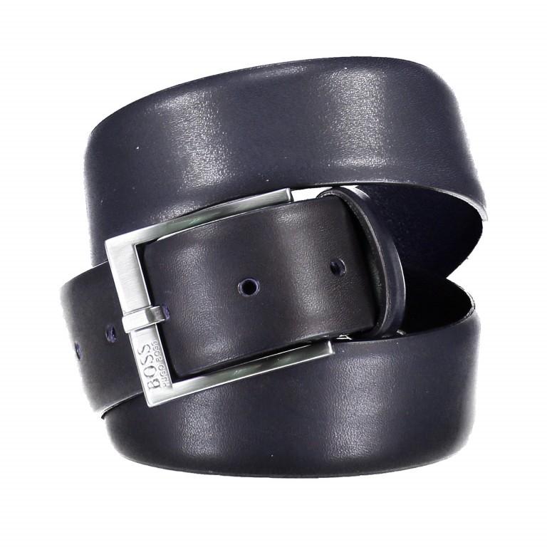Gürtel Erron Bundweite 90 cm Dark Blue, Farbe: blau/petrol, Marke: Boss, EAN: 4029048178126, Bild 1 von 3
