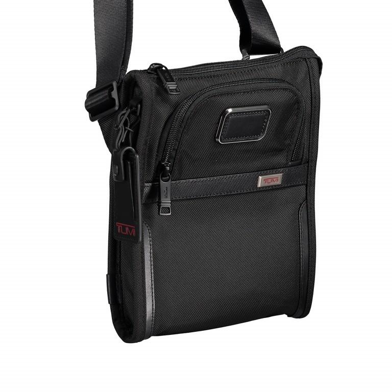 Umhängetasche Alpha 3 Pocket Bag Small Black, Farbe: schwarz, Marke: Tumi, EAN: 0742315477855, Abmessungen in cm: 20.5x24.0x3.7, Bild 2 von 5