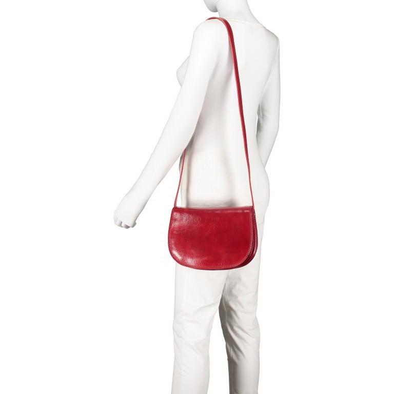 Satteltasche Toscana Größe M Rot, Farbe: rot/weinrot, Marke: Hausfelder, EAN: 4065646000179, Abmessungen in cm: 27.0x20.0x11.0, Bild 4 von 6