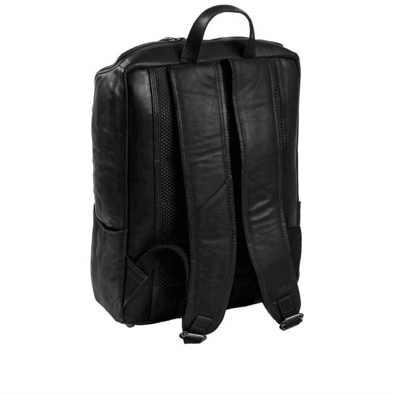 Rucksack Rich Laptopfach 15,4 Zoll Black, Farbe: schwarz, Marke: The Chesterfield Brand, EAN: 8719241018225, Abmessungen in cm: 32.0x40.0x14.0, Bild 2 von 7
