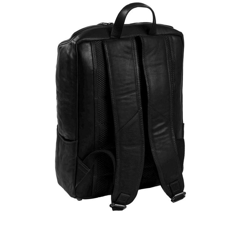 Rucksack Rich Laptopfach 15,4 Zoll, Farbe: schwarz, braun, cognac, Marke: The Chesterfield Brand, Abmessungen in cm: 32.0x40.0x14.0, Bild 2 von 6