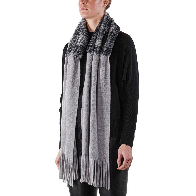 Kapuzenschal Vlien, Farbe: schwarz, grau, grün/oliv, beige, Marke: Rino & Pelle, Bild 1 von 1