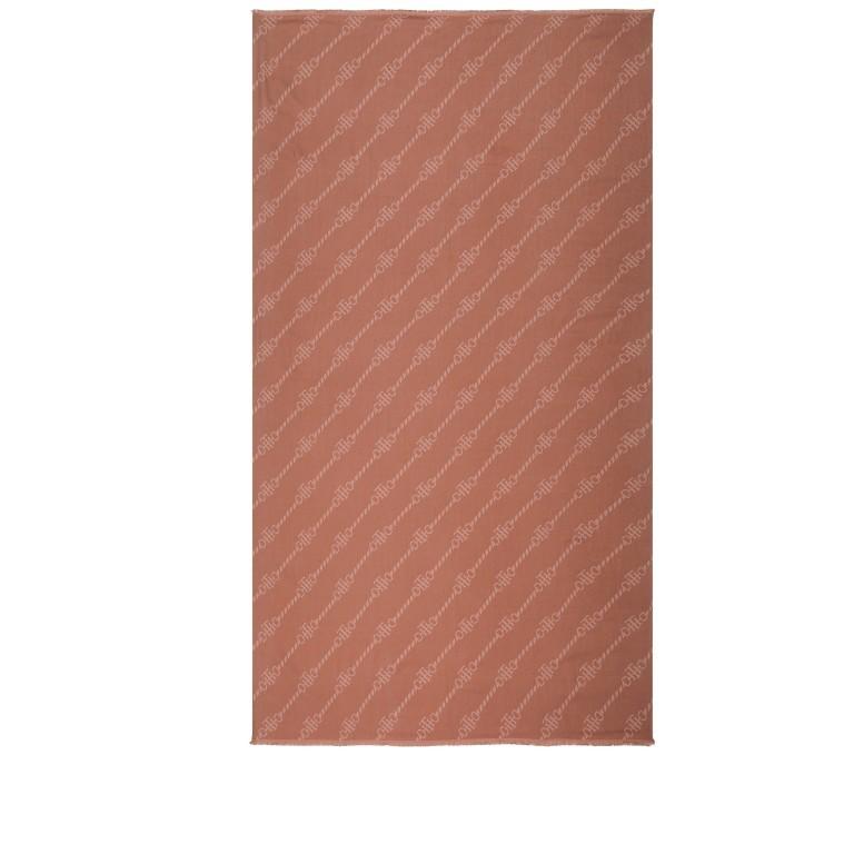 Schal Club Logo Scarf, Farbe: blau/petrol, rosa/pink, Marke: Tommy Hilfiger, Bild 2 von 2