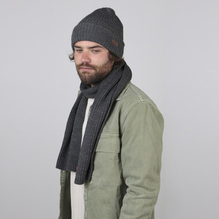 Schal Wilbert, Farbe: schwarz, anthrazit, grau, blau/petrol, grün/oliv, Marke: Barts, Abmessungen in cm: 160.0x20.0, Bild 2 von 2
