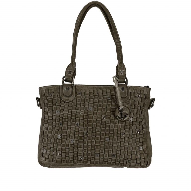 Shopper Soft-Weaving Ysabel B3.4722 Olive Green, Farbe: grün/oliv, Marke: Harbour 2nd, EAN: 4046478035232, Abmessungen in cm: 32.0x25.0x5.0, Bild 1 von 7